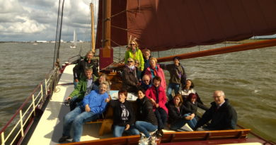 Unsere Fahrt auf dem Plattbodenschiff in den Niederlanden